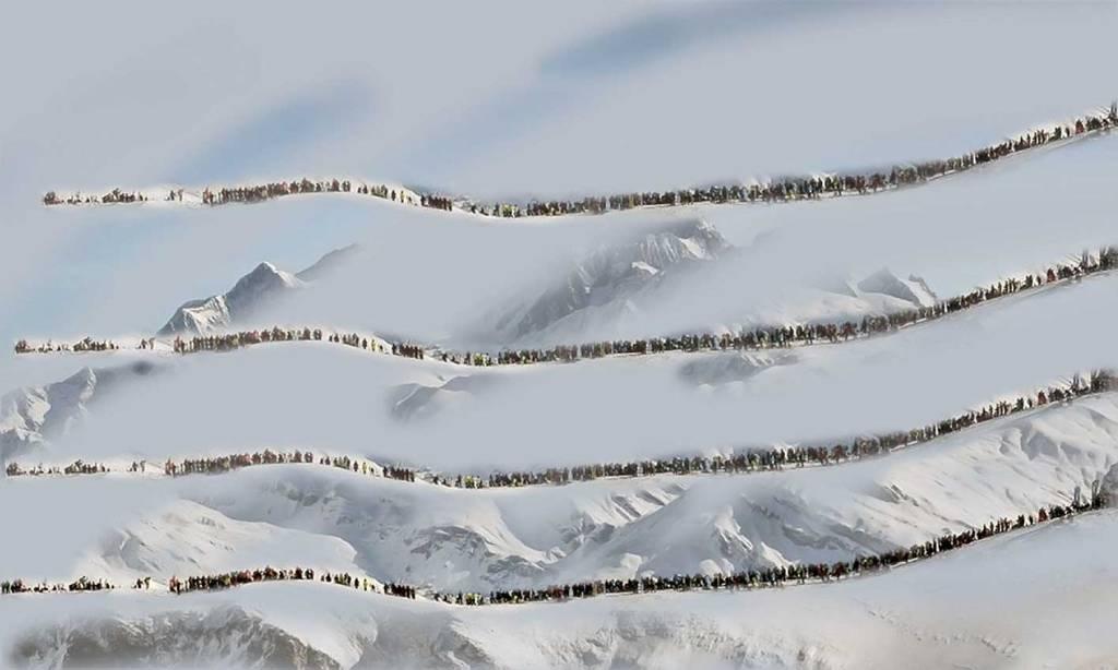 La montagne striée