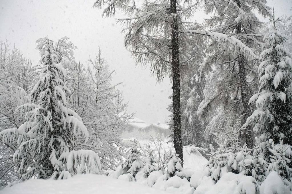 Grosse neige à Chamonix